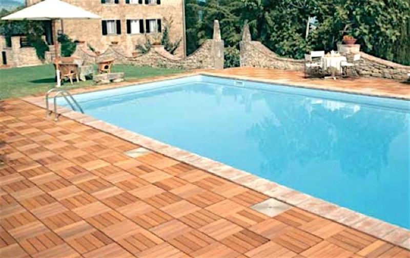 √ pool house piastrelle flottanti per esterno
